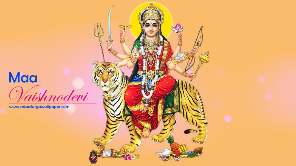 Maa Vaishno devi image full size hd to share festival greeting and grace mobile and desktop background.