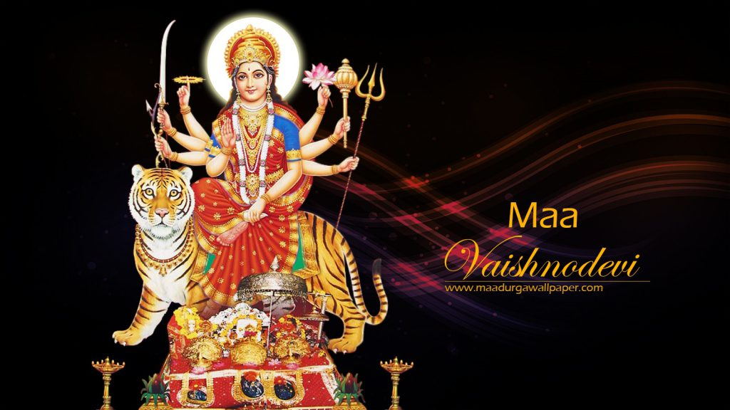 Vaishno Devi image beautifully depicted on dark color background for desktop background